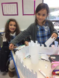 8 - 1st grade built their models of fortified castles www.lihouston.org