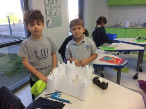 2 - 1st grade built their models of fortified castles www.lihouston.org
