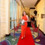 Kelsey Zuchlewski member of LIH Teacher Staff walking the Red Carpet – LIH Premier Gala An Evening on the Red Carpet – Lycée International de Houston (LIH)
